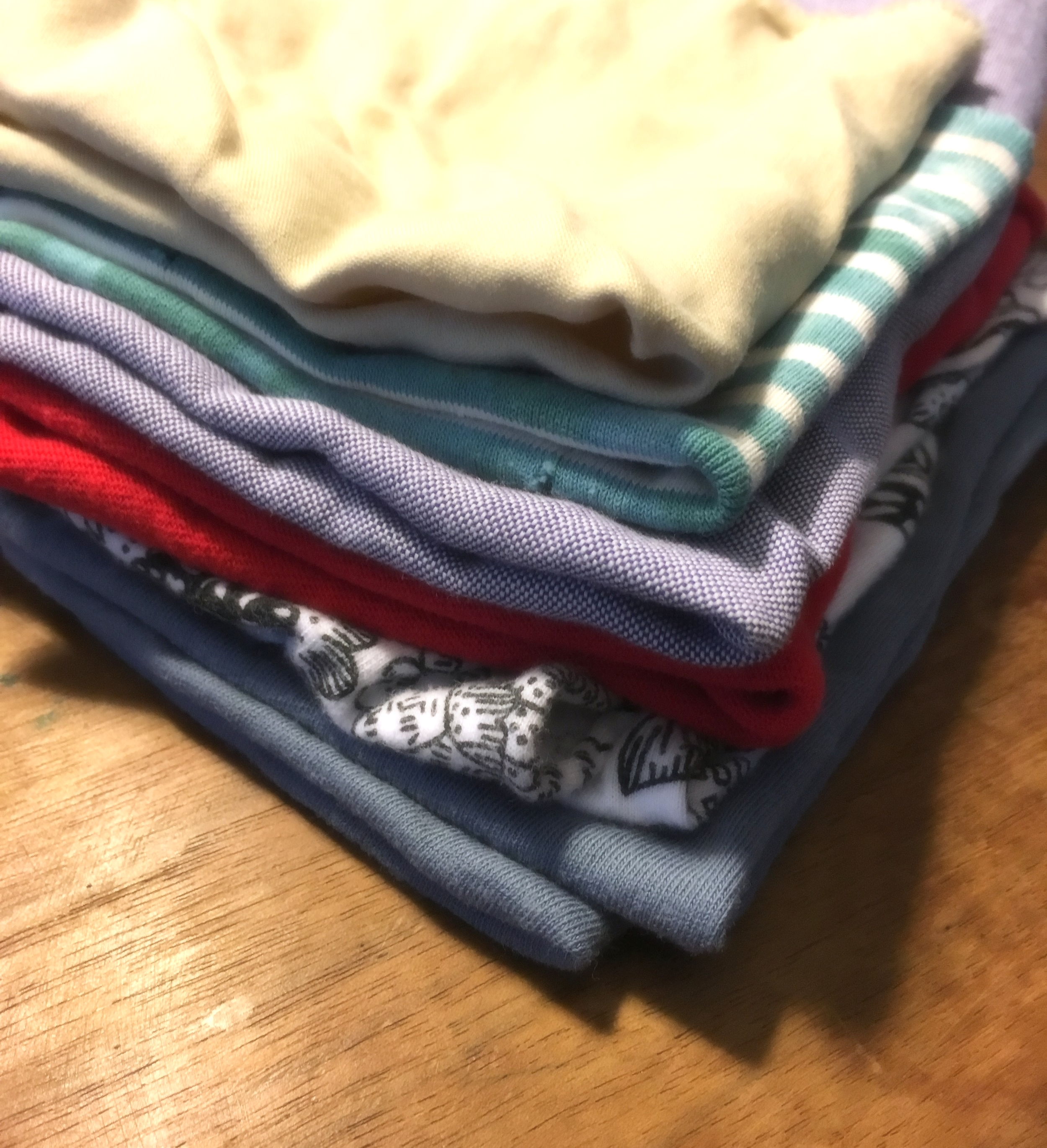 Homemade un-paper towels are a great way to re=purpose clothes!