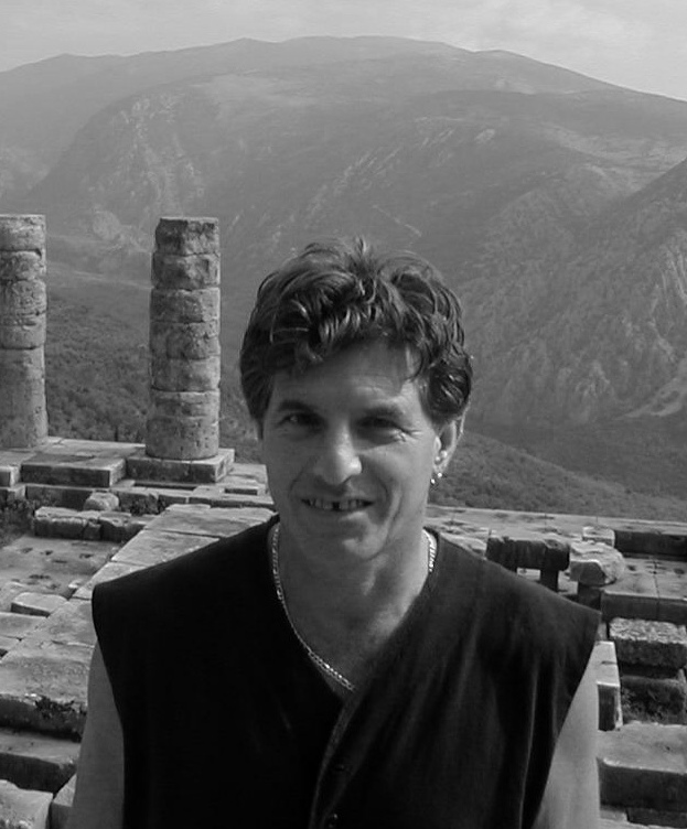Peter Payack at the Temple of Apollo in Delphi, Greece during the 2002 International Sky Art Conference where he was a featured speaker.