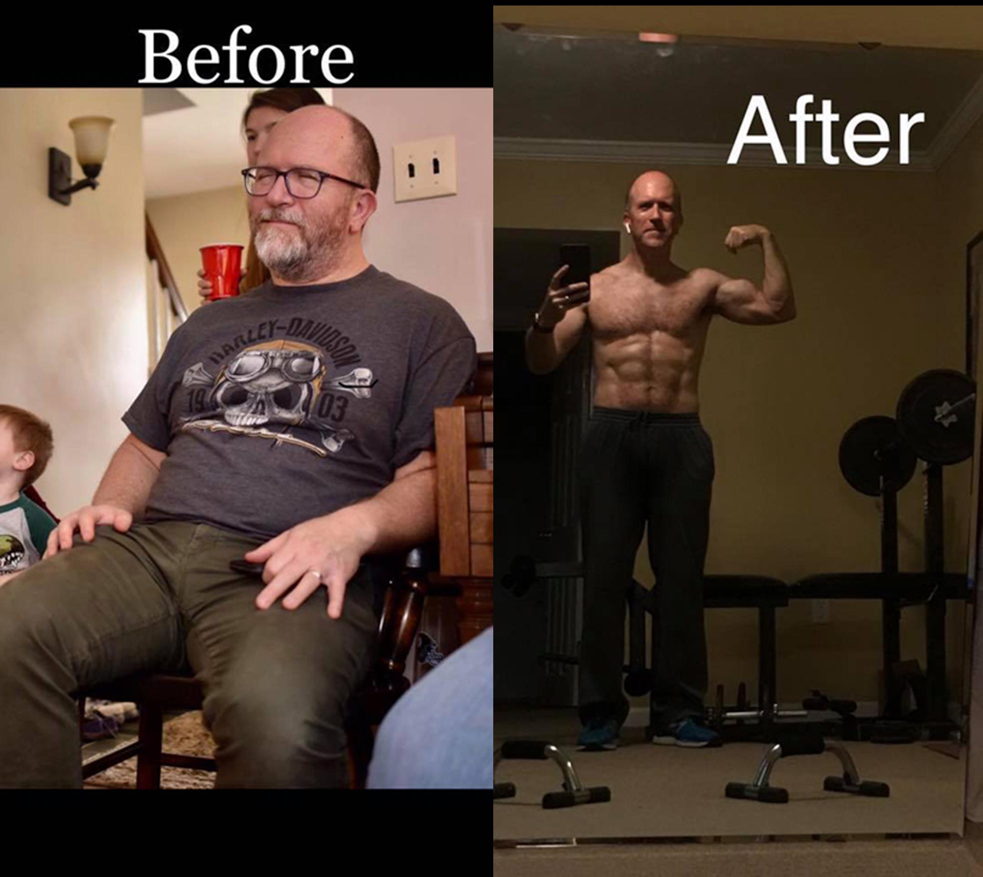 """60 lbs later, I am proud of myself"" — John"