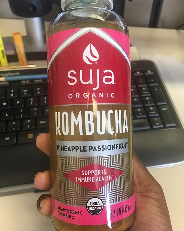 Is Kombucha Good for You? —  Read my post about it.  https://simplykatricia.com/thoughts/is-kombucha-good-for-you ✨ #simplykatricia #kombucha #suja #tumeric #pineapple #fruit #healthandwellness #health