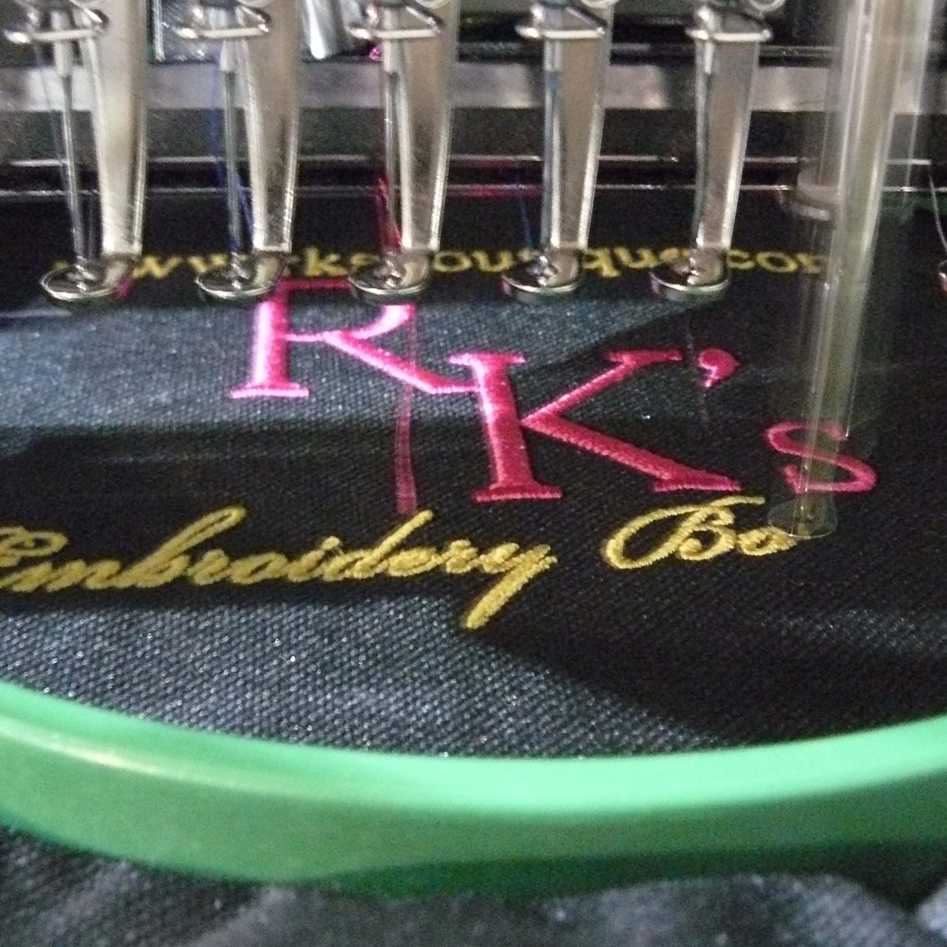 RK's Custom Embroidery Shop - Create the #perfectgift when you choose from thousands of designs embroidered on bags, aprons, scarves or hats!