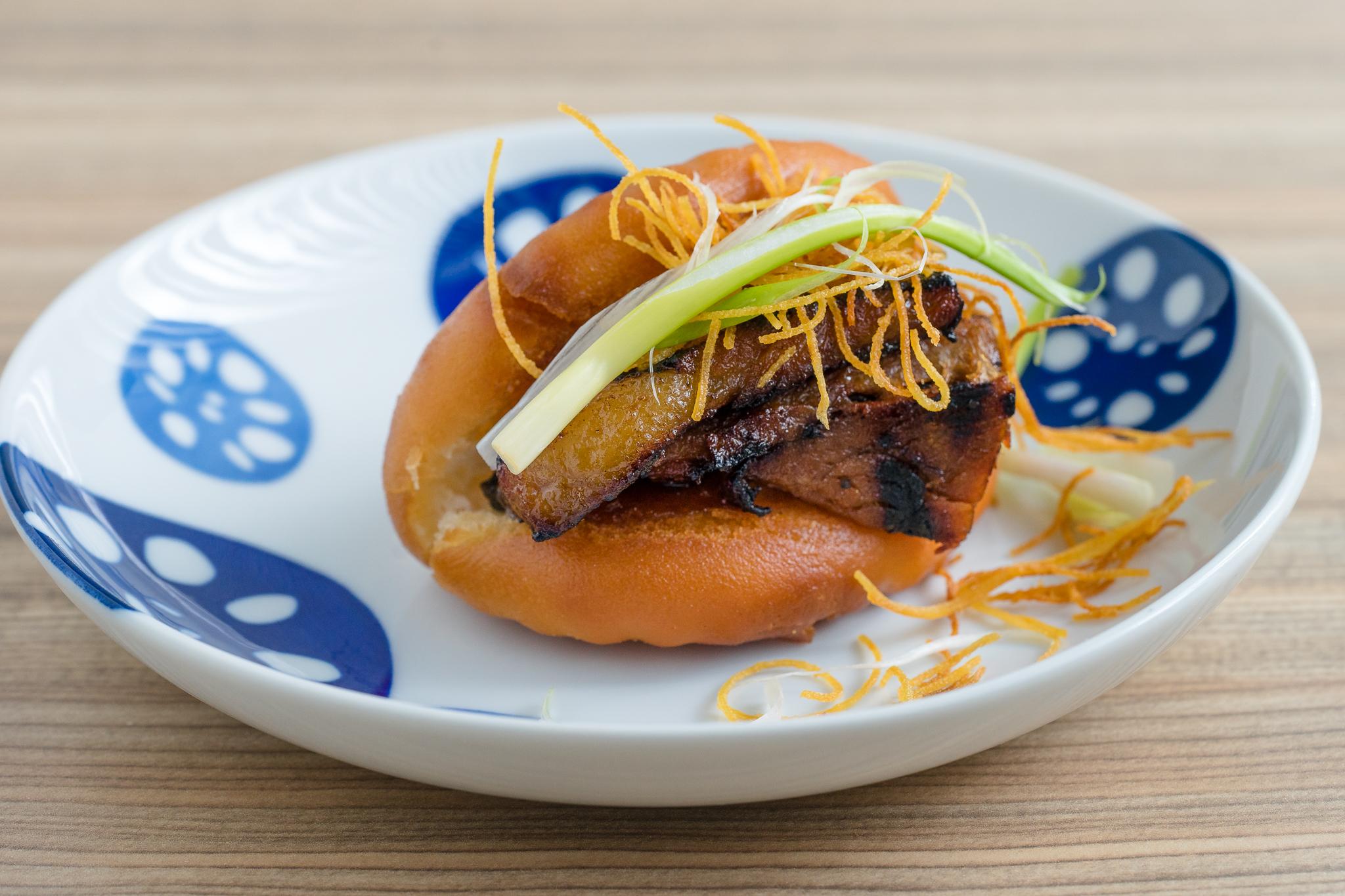 Pork Belly Bao with Scallion
