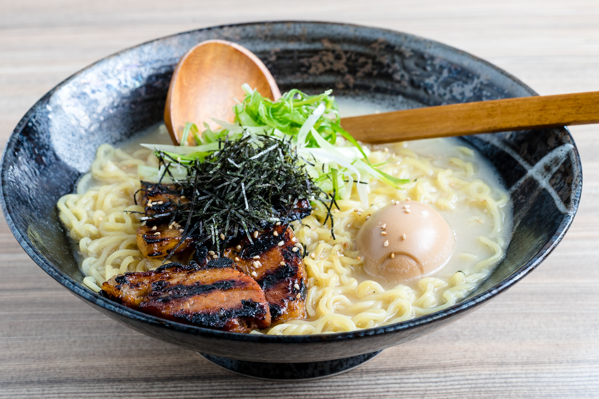 Ramen with Grilled Chicken, Scallions and Egg