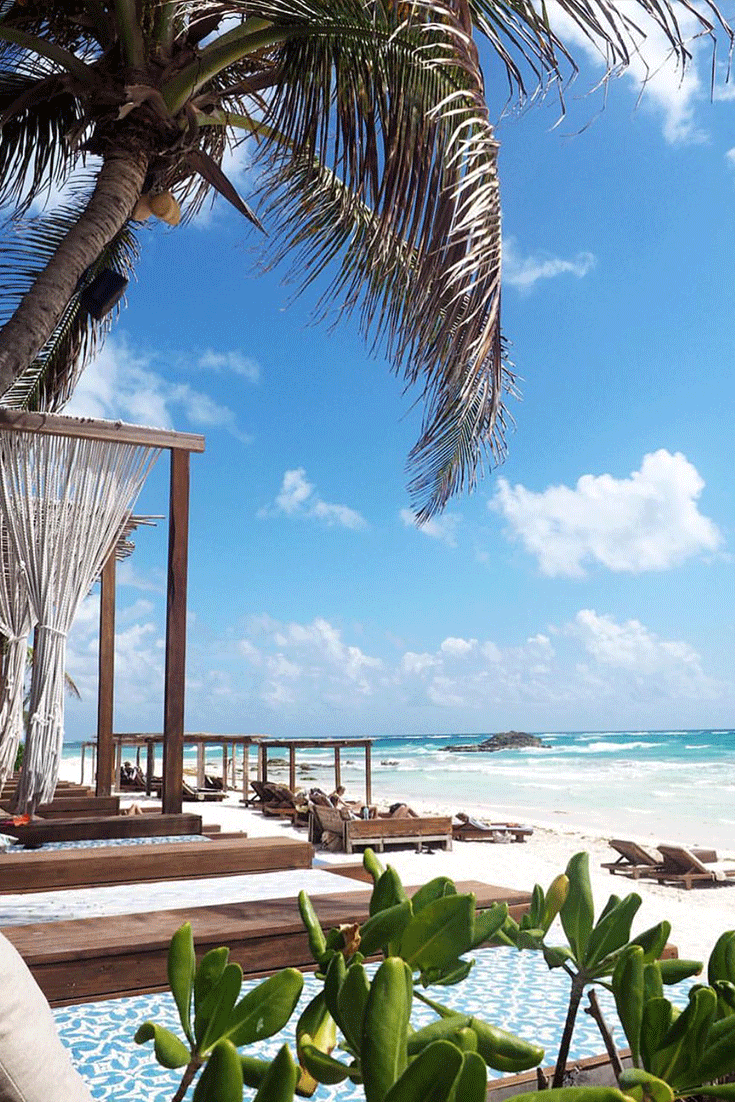 Amazing Beach - Tulum is rated as one of the top 5 beaches in the world with miles of white sandy beach and turquoise blue water.