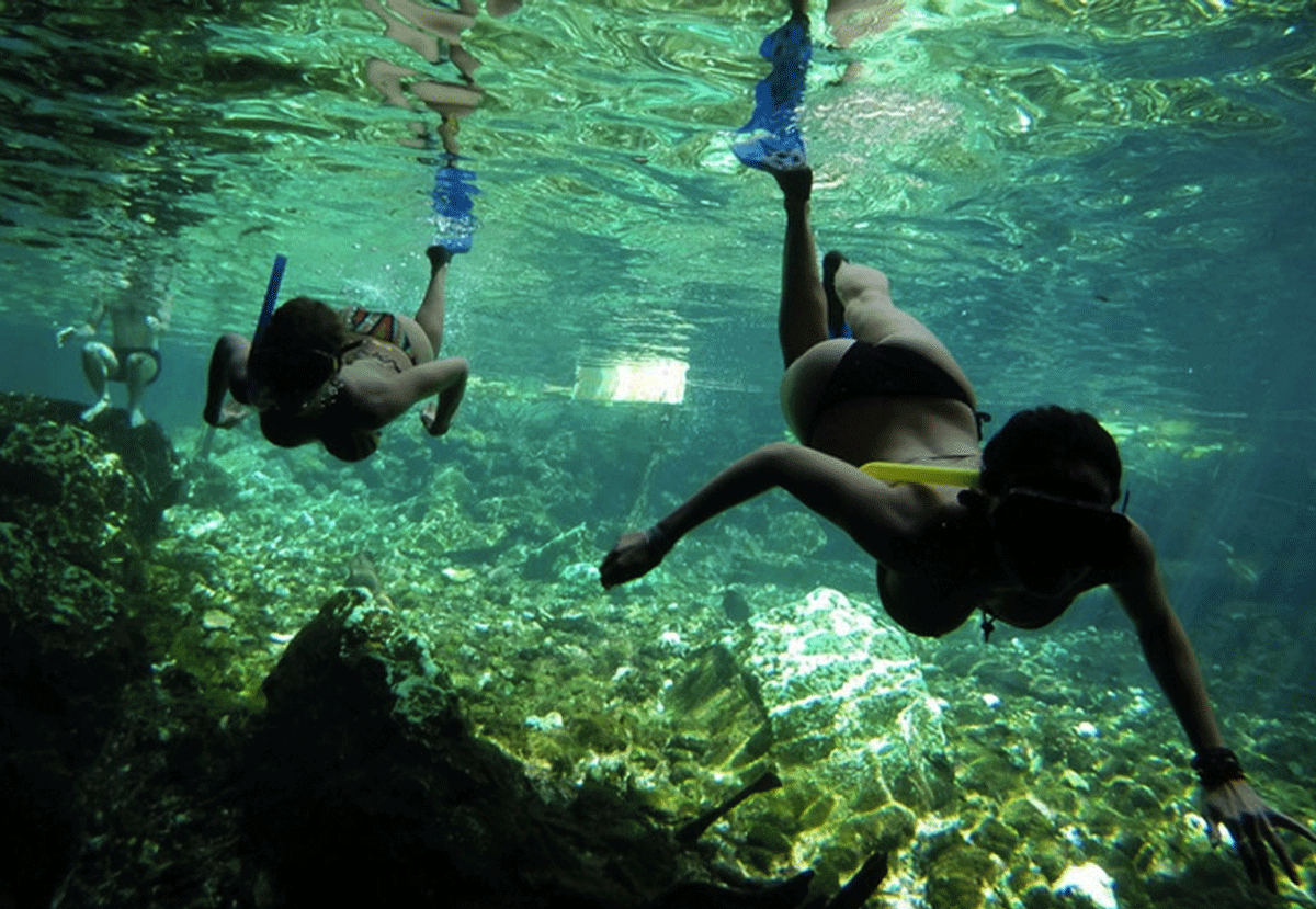 GRAND CENOTE SNORKEL TOUR - One of the best cenotes in the area, Grand Cenote, is about 15 minutes drive from Amansala. Includes transportation, snorkel gear, entrance fees and a guide. Lasts approx. 2.5 hours