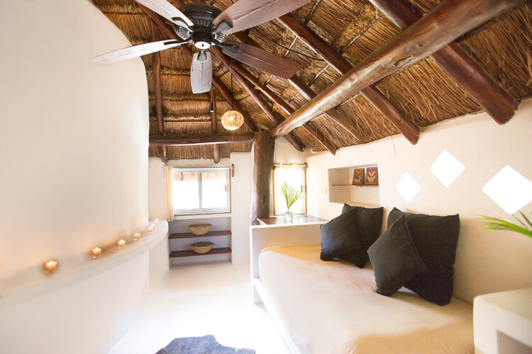 Our Den - This room has a door and all the privacy you need, with an individual bed and a shared bathroom. Depending on the size of your group this can be set up as a bedroom or a lounge area.