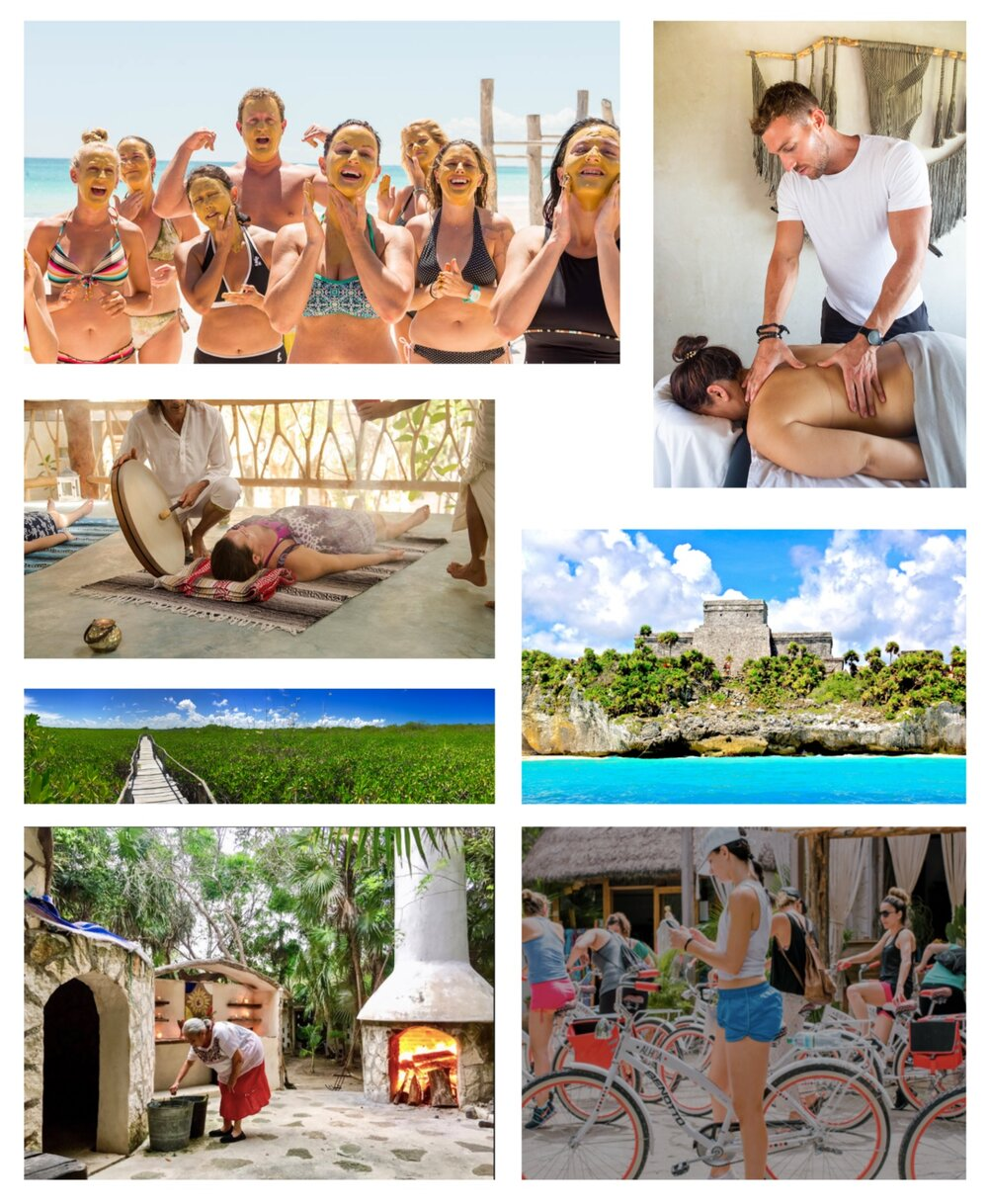 GREAT PLACE TO COME AND PAMPER YOURSELF. - We have an onsite spa just steps away from the house, you can book a group Sound Healing session, Mayan Temazcal or Tour to a local highlight. We just need a minimum of 6 people from your group.