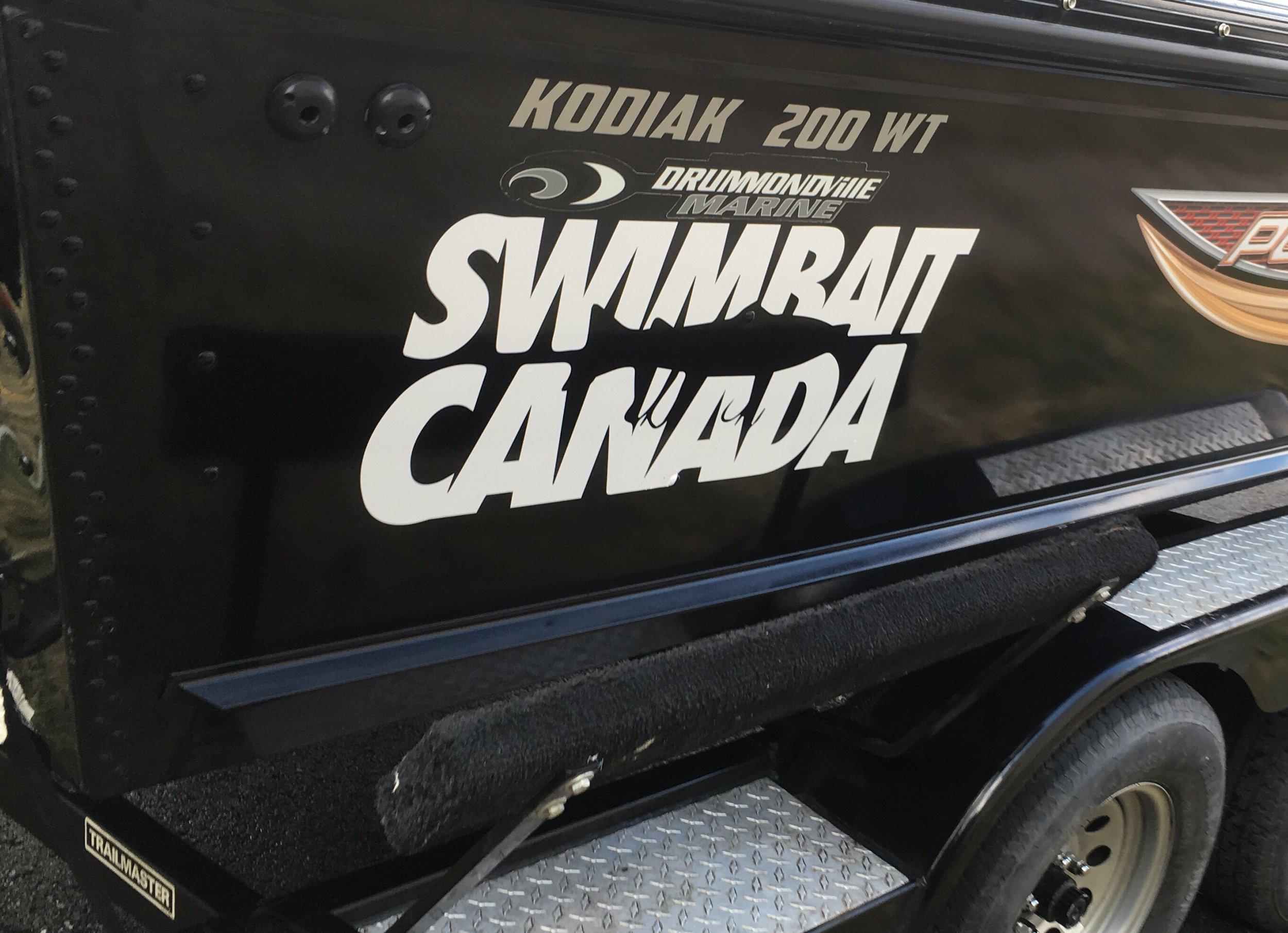 swimbait canada die cut stickers