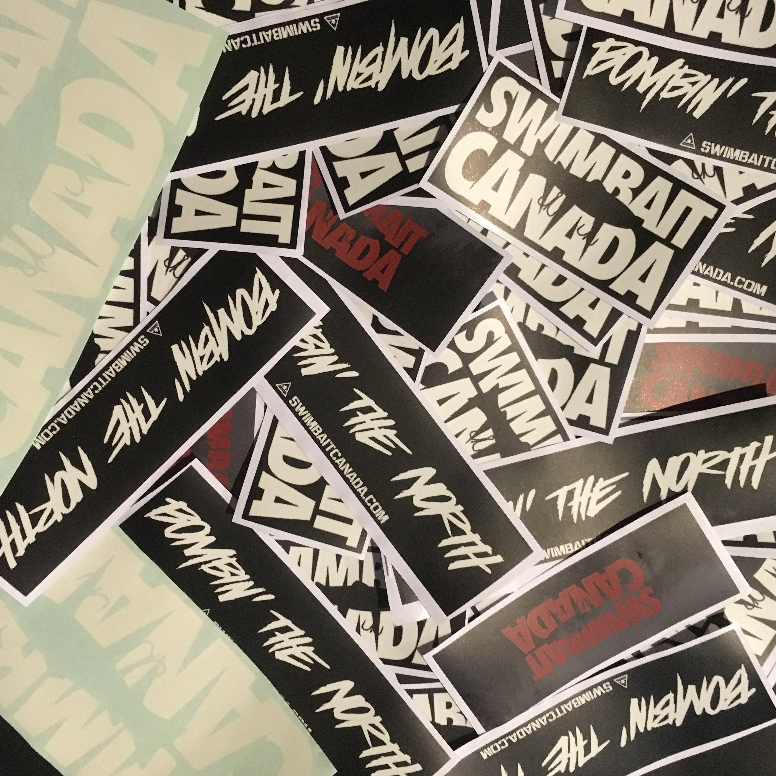 swimbait canada stickers