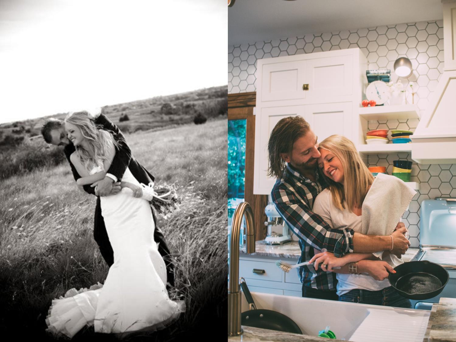 10 year anniversary creative photo recreation