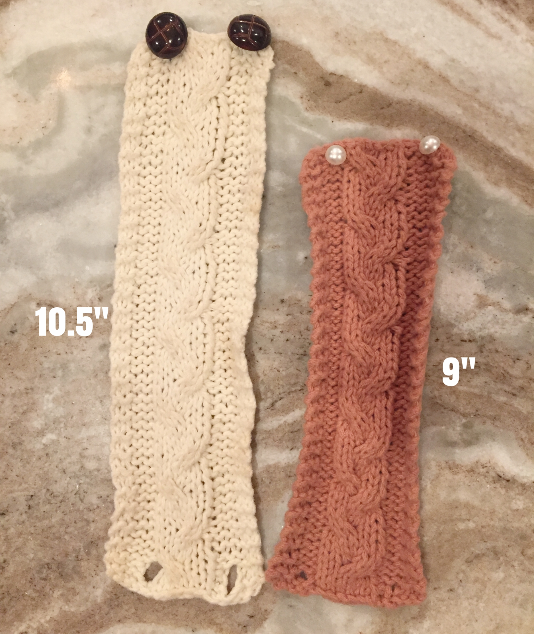 Make in any size - Knit until cozy fits around desired mug when stretched slightly (if it's too loose, it could slide down)