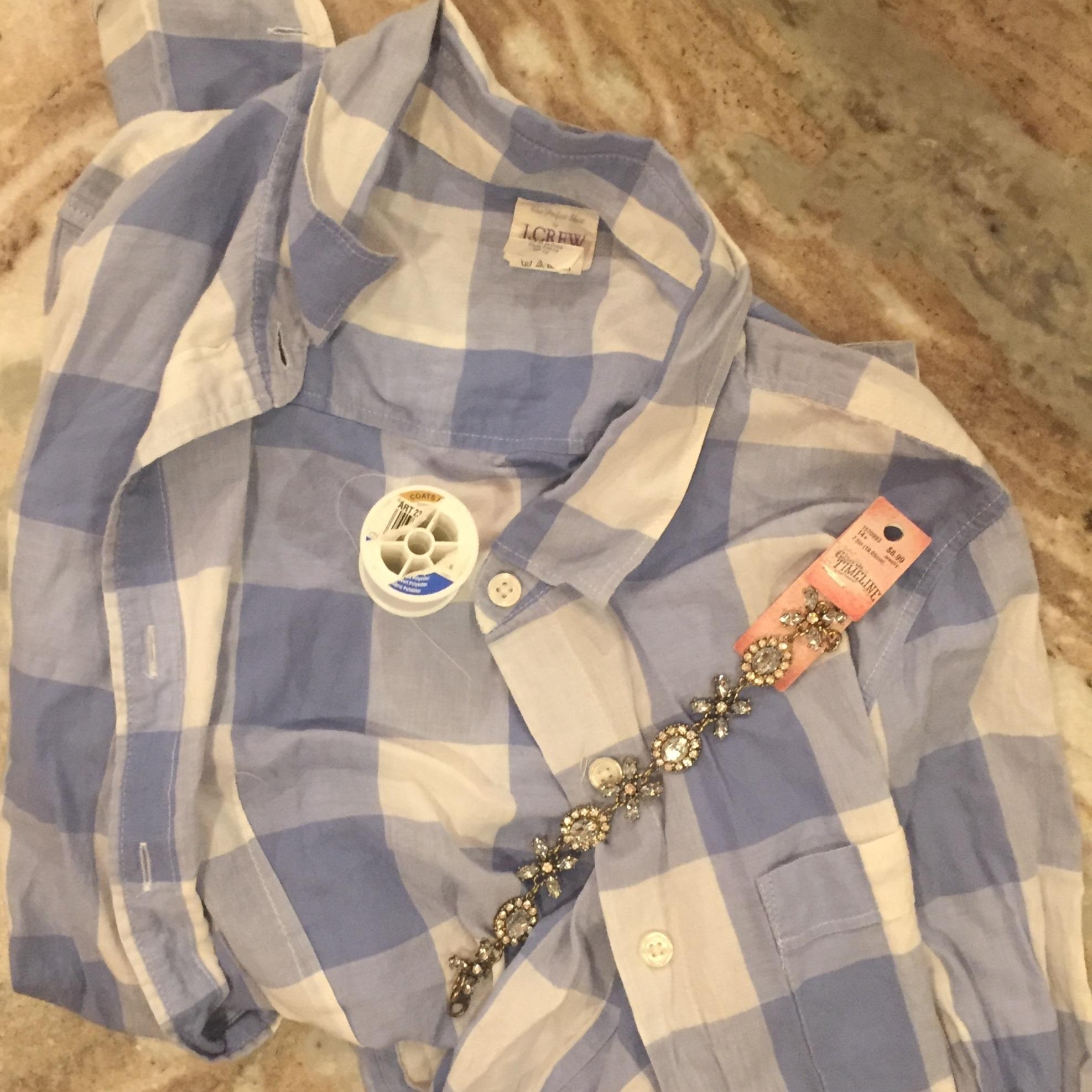 embellished collared shirt