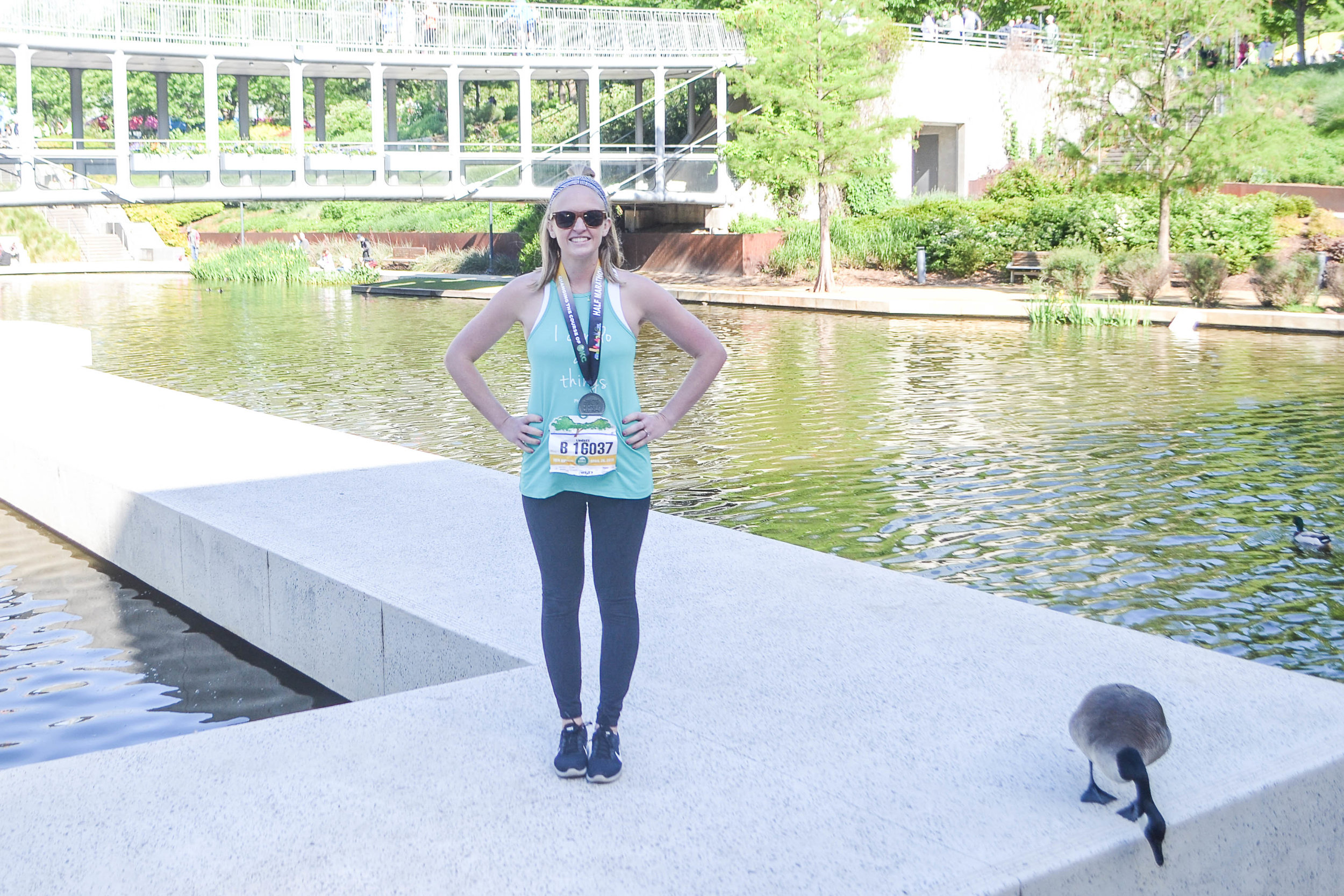 13.1 miles and even that goose knows I smell bad.