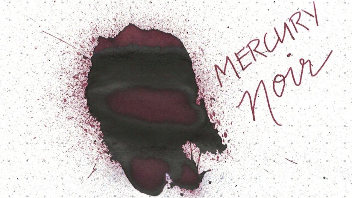 6. Mercury Noir - A murky red-black with deep black sheen.
