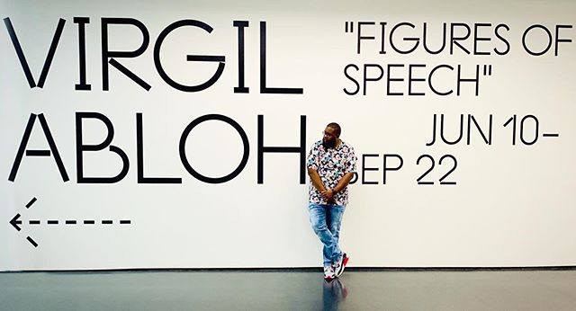 Today I saw a kid so excited an inspired by the #figuresofspeech exhibition dope to see the impact @virgilabloh has on the youth ➖➖➖➖➖➖➖➖➖➖➖➖➖➖➖➖ #fashion #virgilabloh #offwhite #chicago #dope #louisvuitton #art