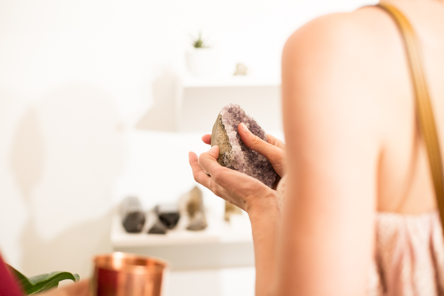 Stop by Space by Mama Medicine and choose a few crystals to help clear stagnant energy: A citrine point can strengthen personal power, and hematite with dragon fire quartz can absorb negative energies - Vogue.com