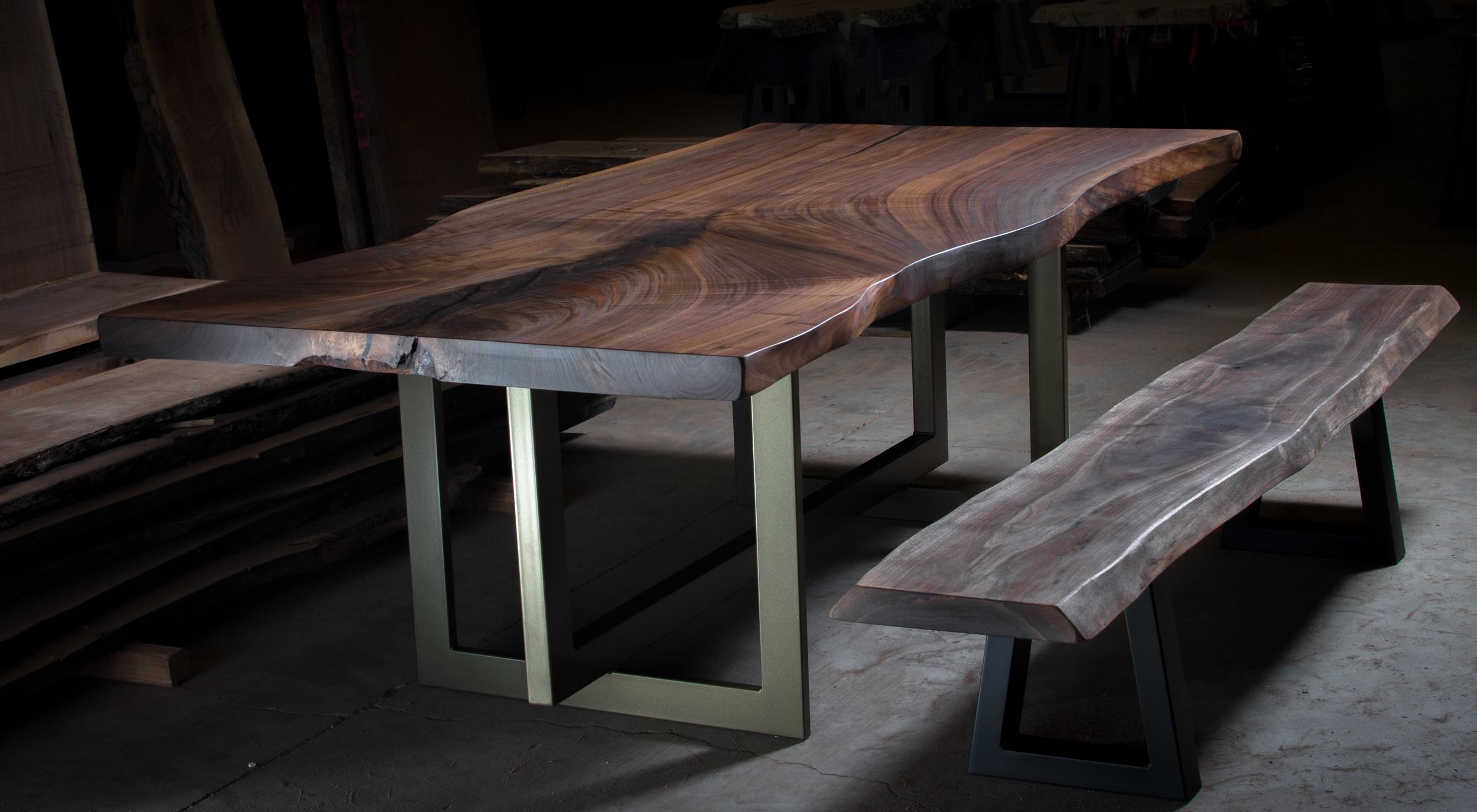 Live Edge Single Slab Table Top (Oregon Black Walnut)