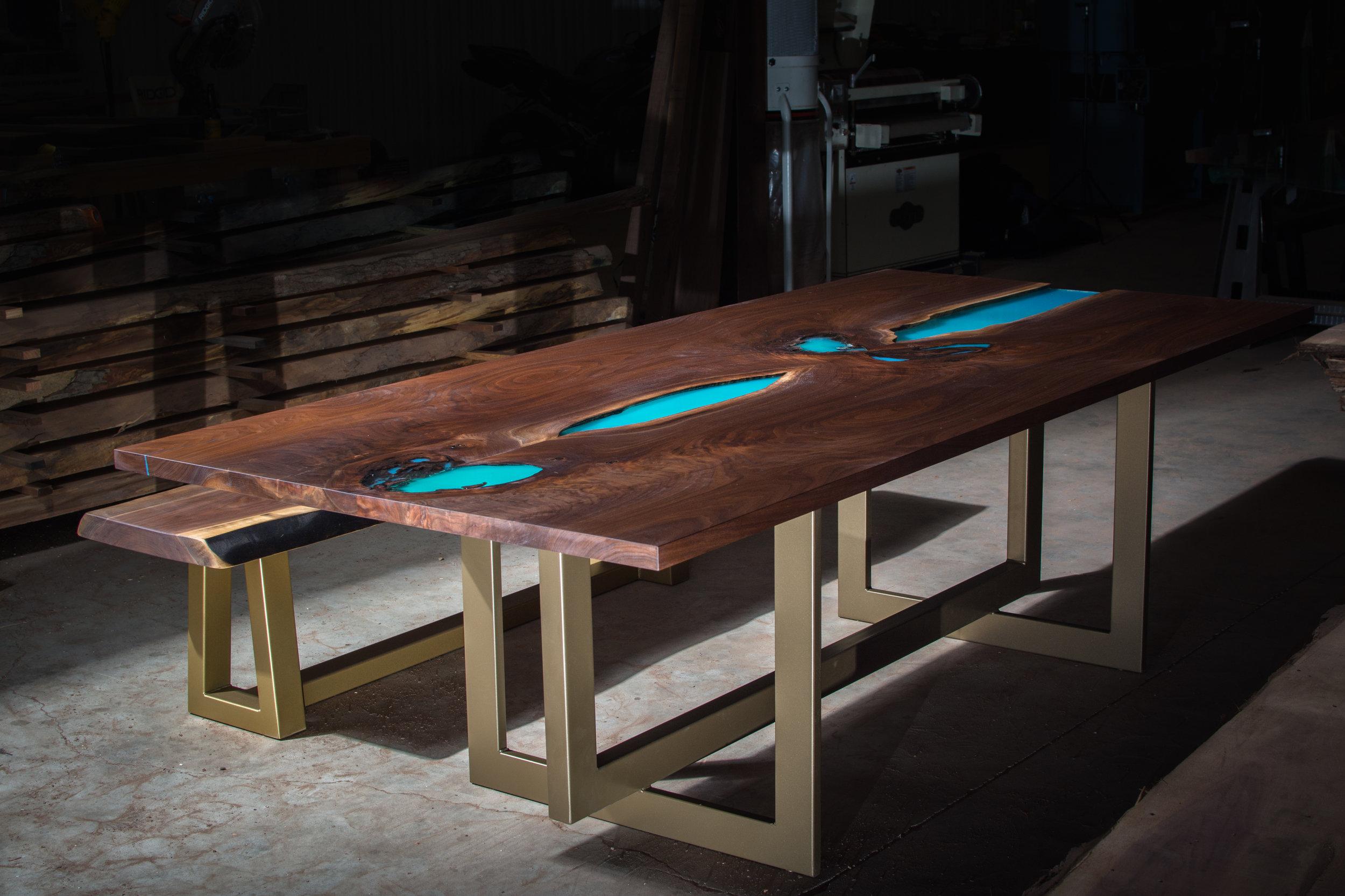 """Lynx"" Table Base (Bronze Powder Coat)"