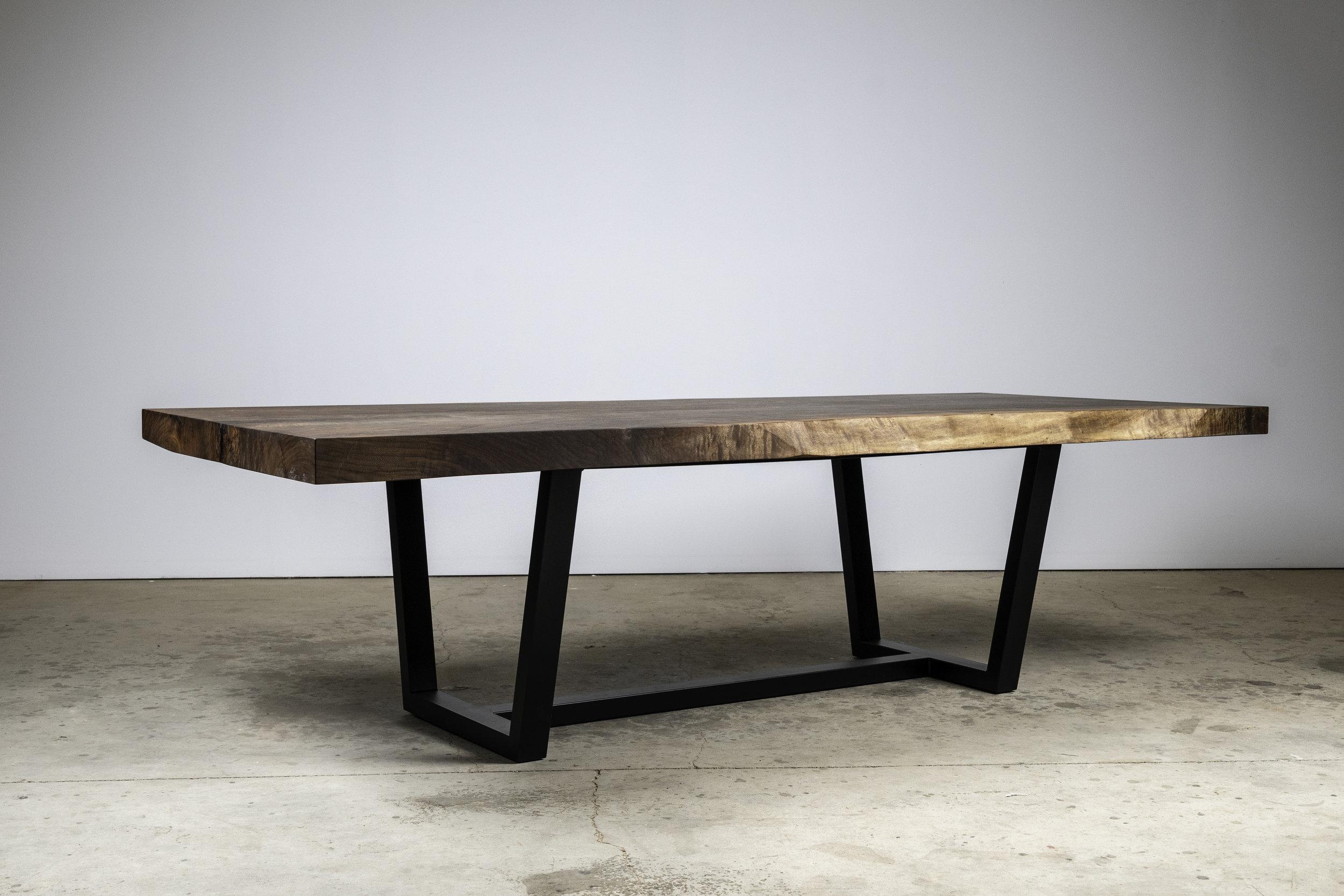 """""""Desert Flower"""" - Black Walnut Dining Table - $22,000"""
