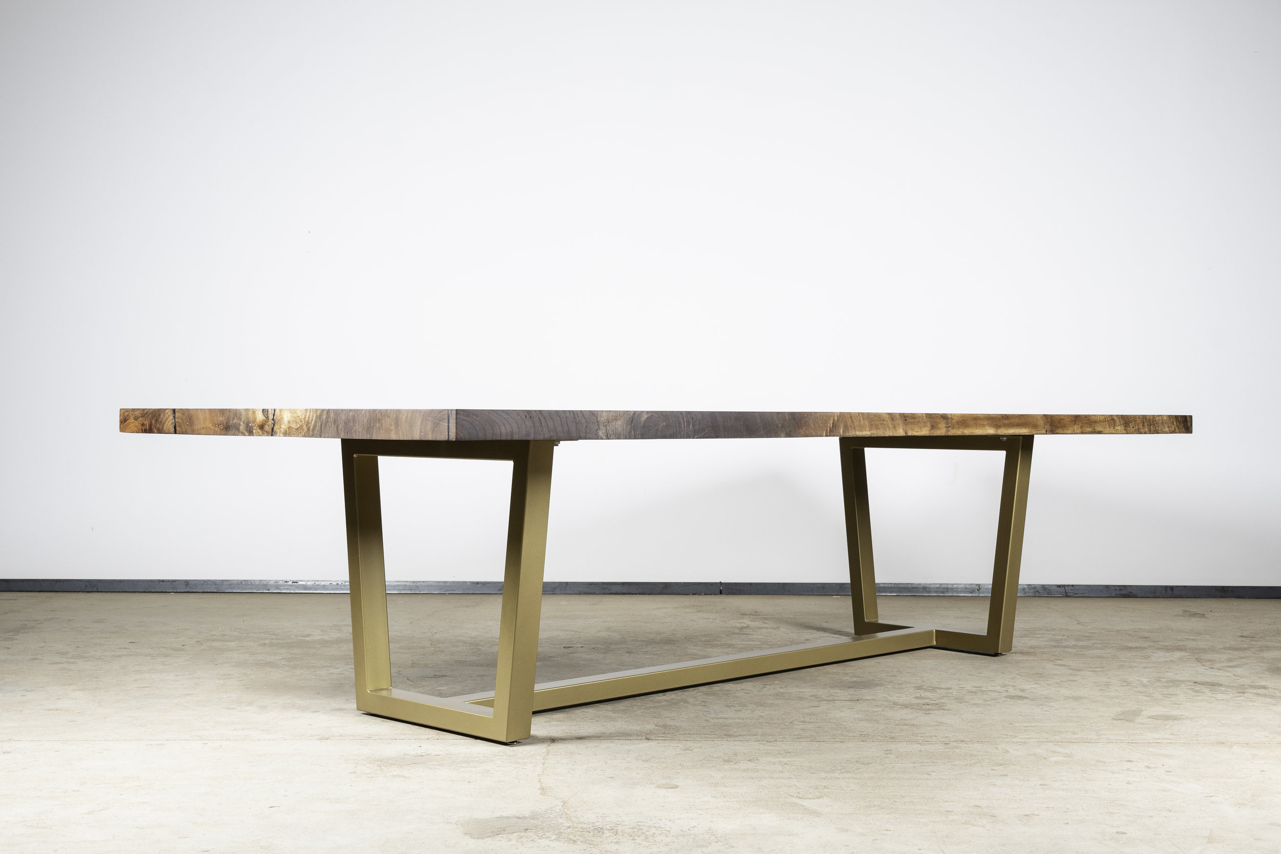 Walnut Table on Gold -
