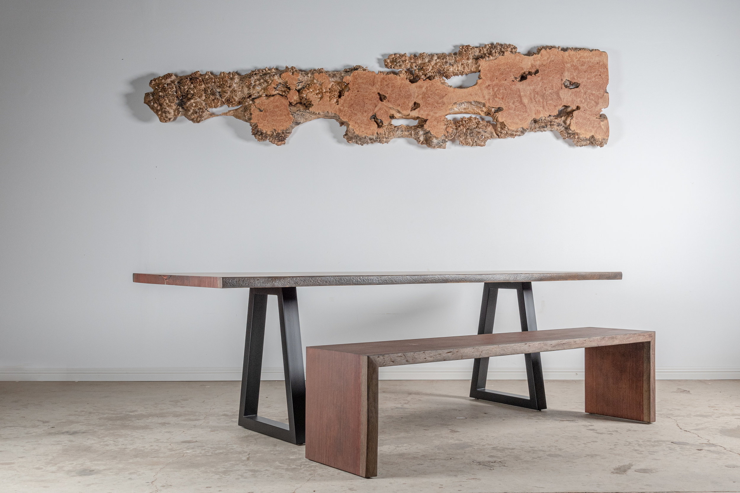 Bubinga Dining Table With Matched Bench - $12,500