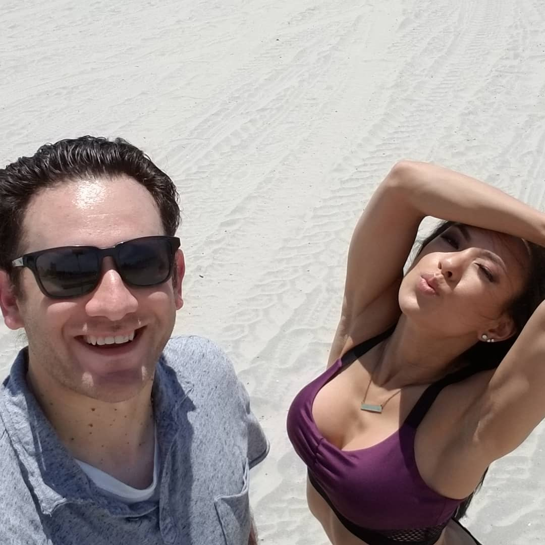 Picture of photographer Joe Mikoli and IFBB Bikini Pro Marisa Woo after another successful photoshoot in Coronado, CA Saturday July 21, 2018