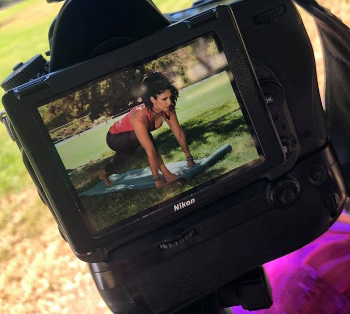 Unedited photo of yoga exercise with Jeanette Ortega