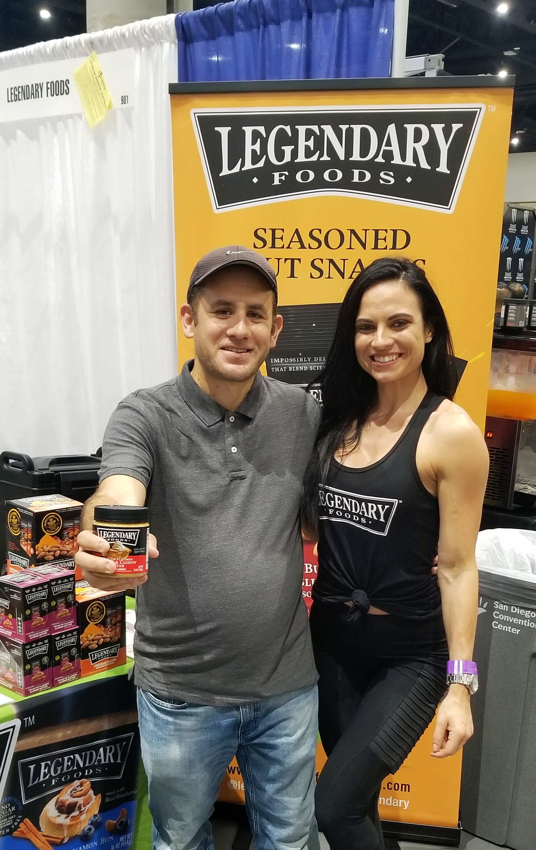At the Legendary Foods booth and @ VictoriaFit _ from Instagram at the San Diego Fit Expo where I got a complimentary Butter. Thank you.