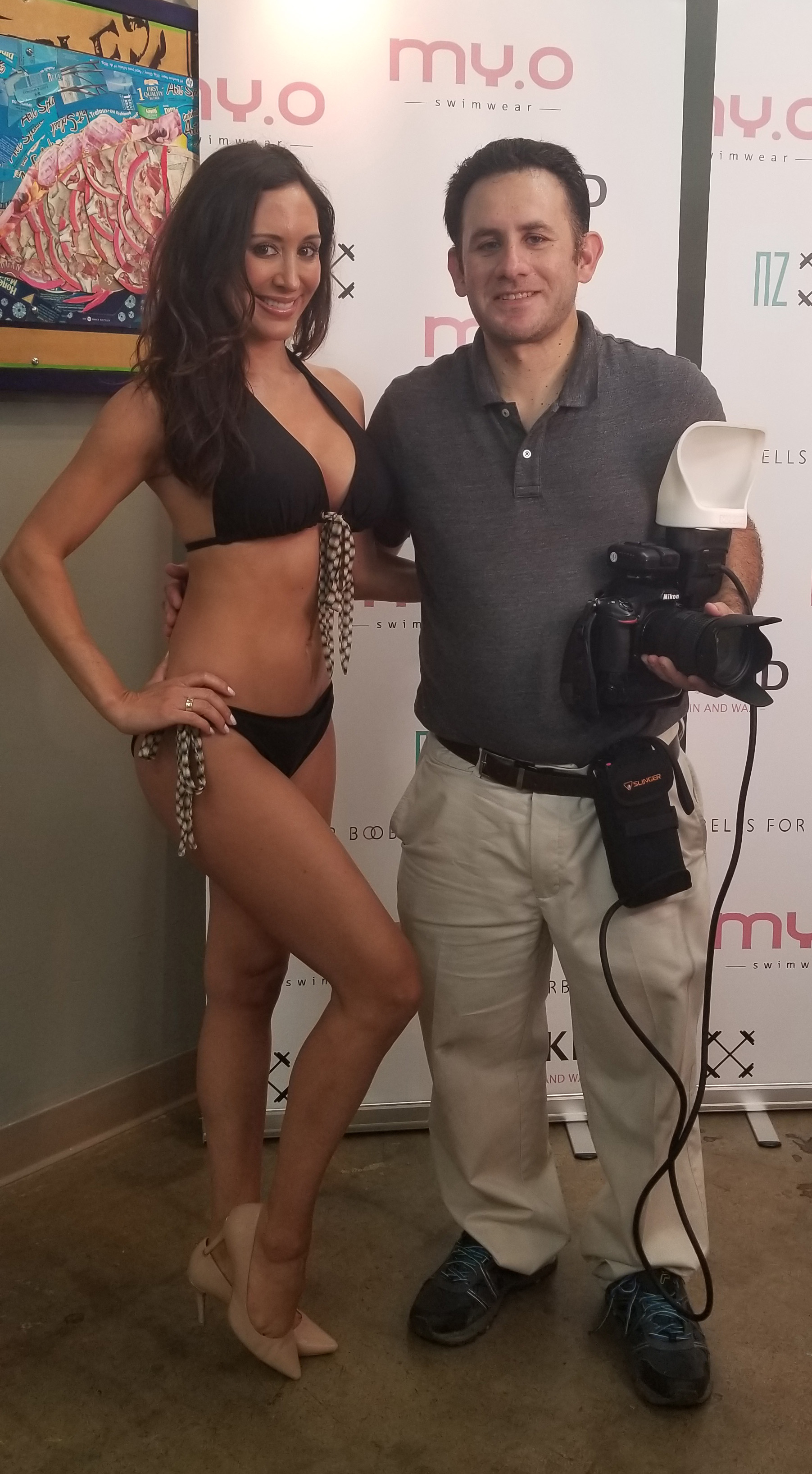 Model June Sanchez and I