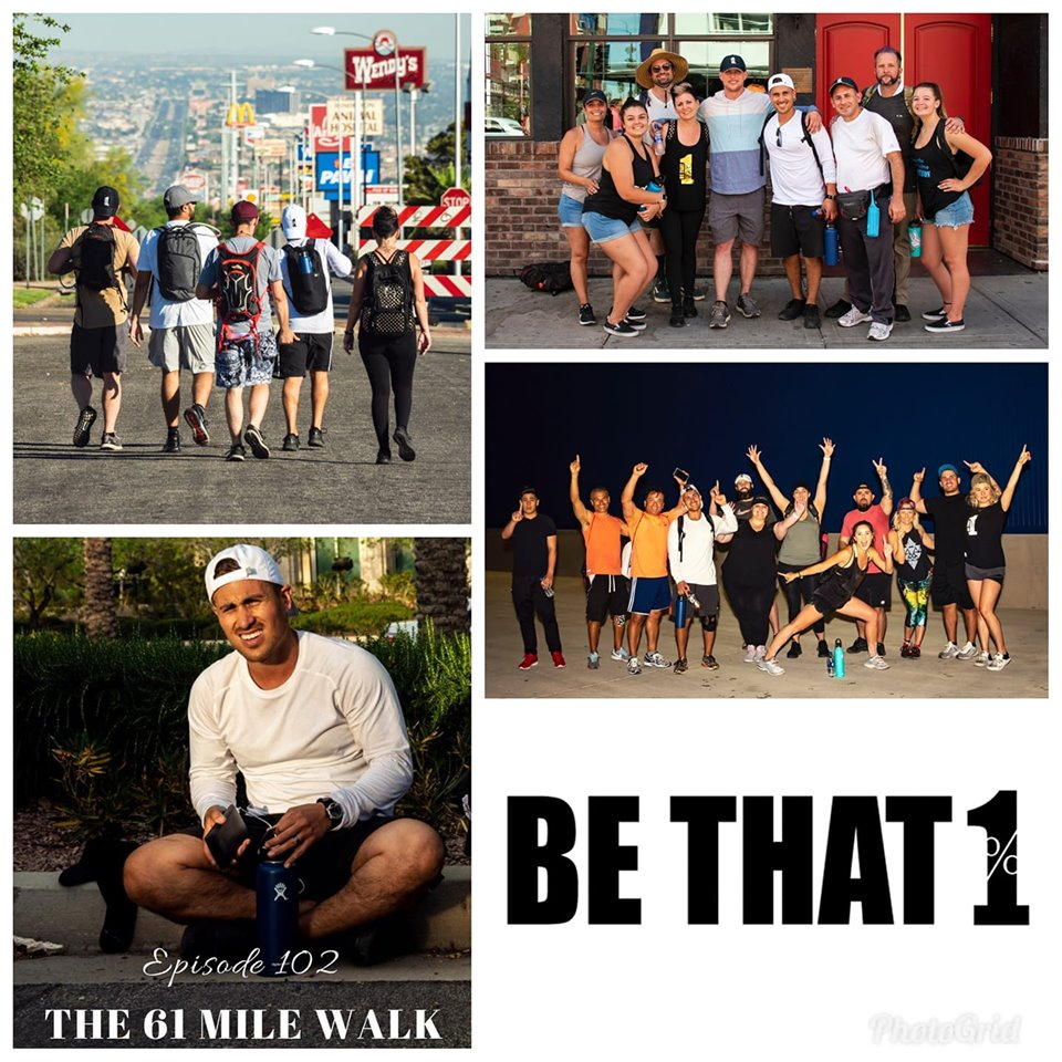 Collage featuring highlights from the 61 mile Walk in Las Vegas, NV April 2019