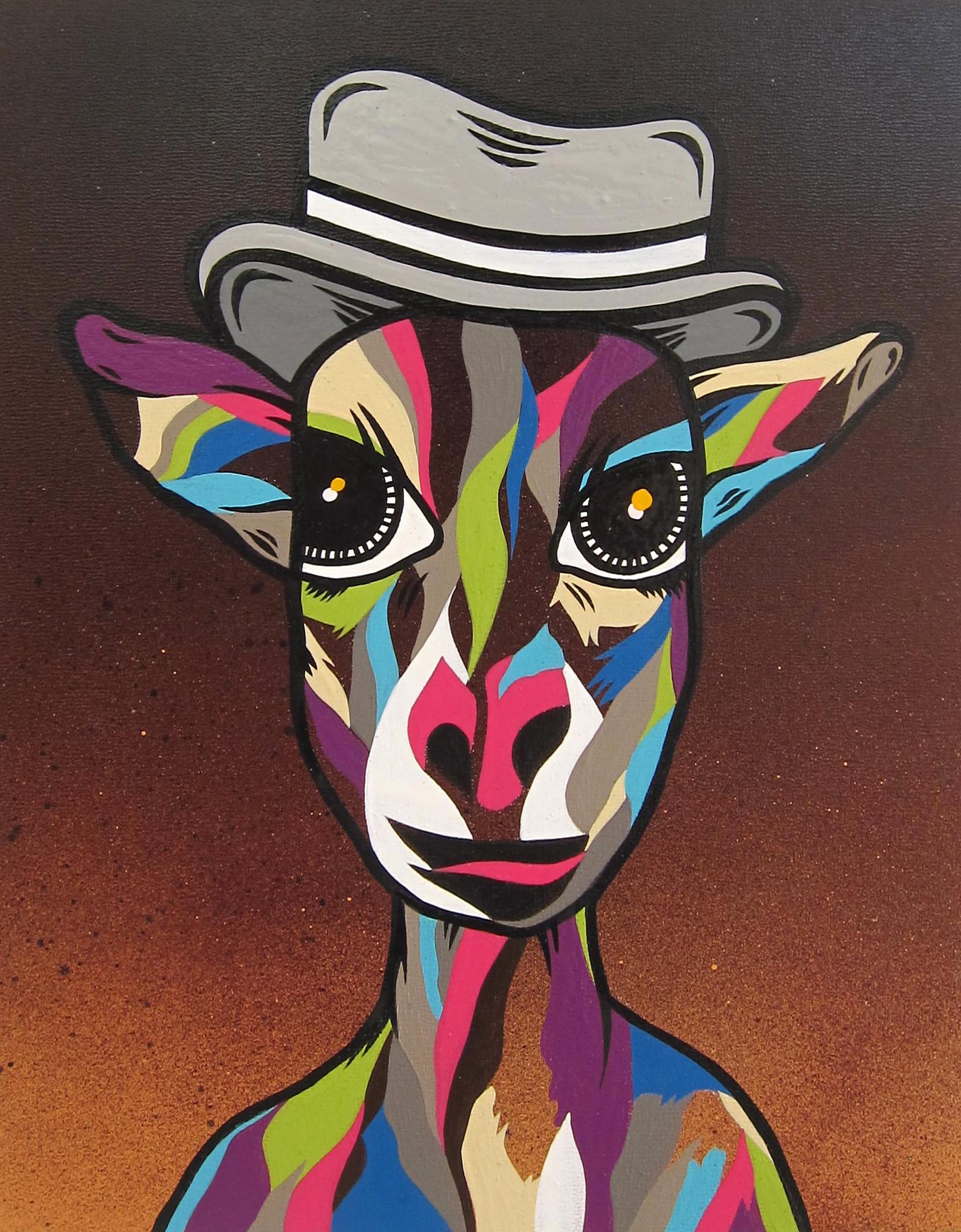 """My Curiosity"" Aerosol, Latex and Enamel on Canvas Panel"