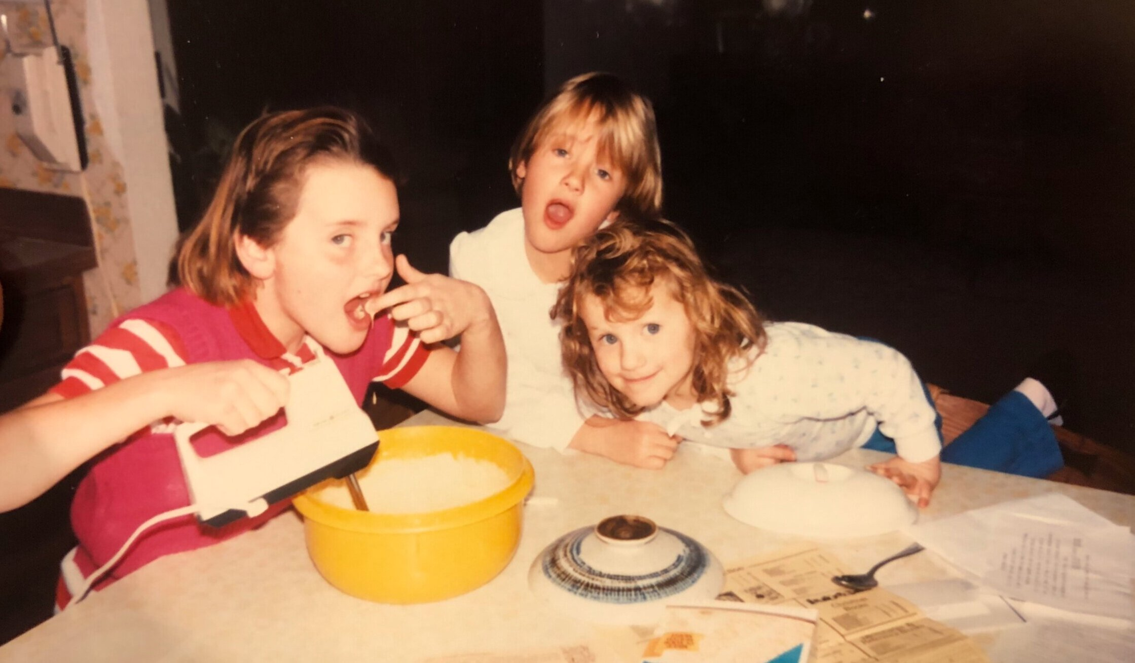 3/3 would never have these haircuts again. (My youngest sister Emily resembling Dana Carvey in  Wayne's World .)