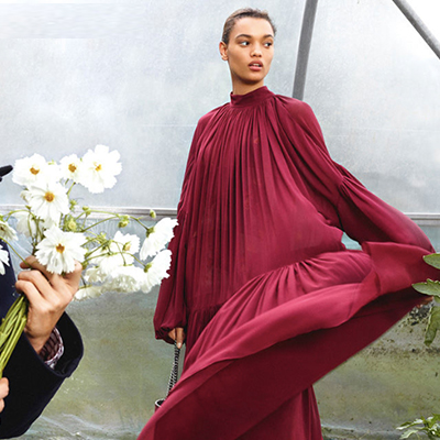 STELLA MCCARTNEY - Sustainable luxury fashion, never using leather or fur, and pioneering new alternative materials.