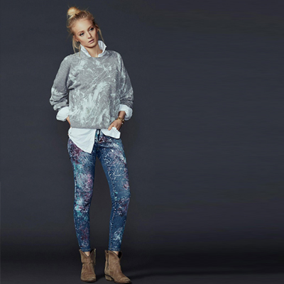 RIALTO JEAN PROJECT - An eco-friendly, philanthropic denim brand specializing in hand-painted, one-of-a-kind vintage product supporting art therapy programs in children's hospitals.