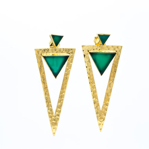 Zaha Green Earrings  $120