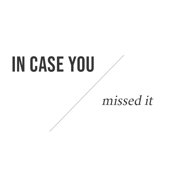 In case you missed it | The Cause Bar