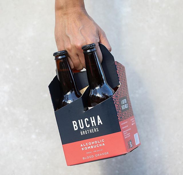 BRB, @buchabrothers time 🍻 #alcoholickombucha #buchabrothers #betterbeerbelly 📸 @theedibleimage