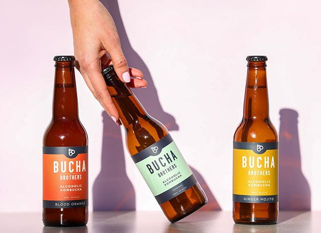 Slide over cider, @buchabrothers are here. Less than one gram of sugar, low carb, 78 calories and packed full of live probiotics to give you a better beer belly. #betterbeerbelly #buchabrothers #alcoholickombucha 📸 @theedibleimage