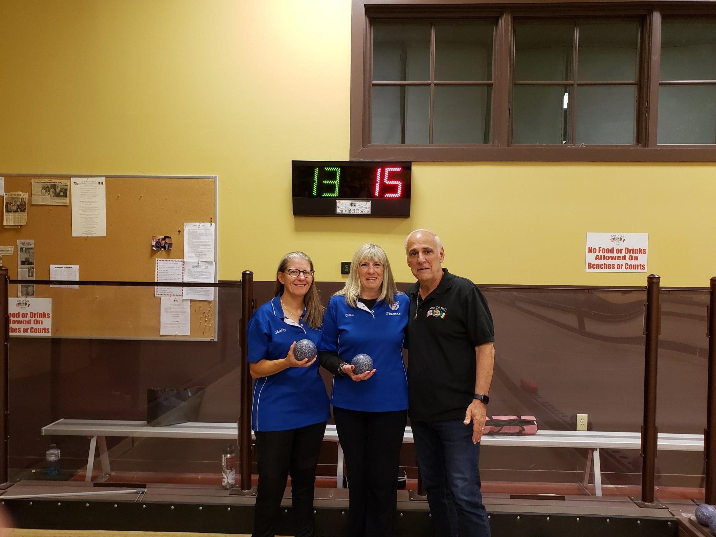 2019 United States Bocce Federation Women's Doubles Punto Raffa Volo Champions! Jolene Kramer (Left) and Teresa Rea ( Right)