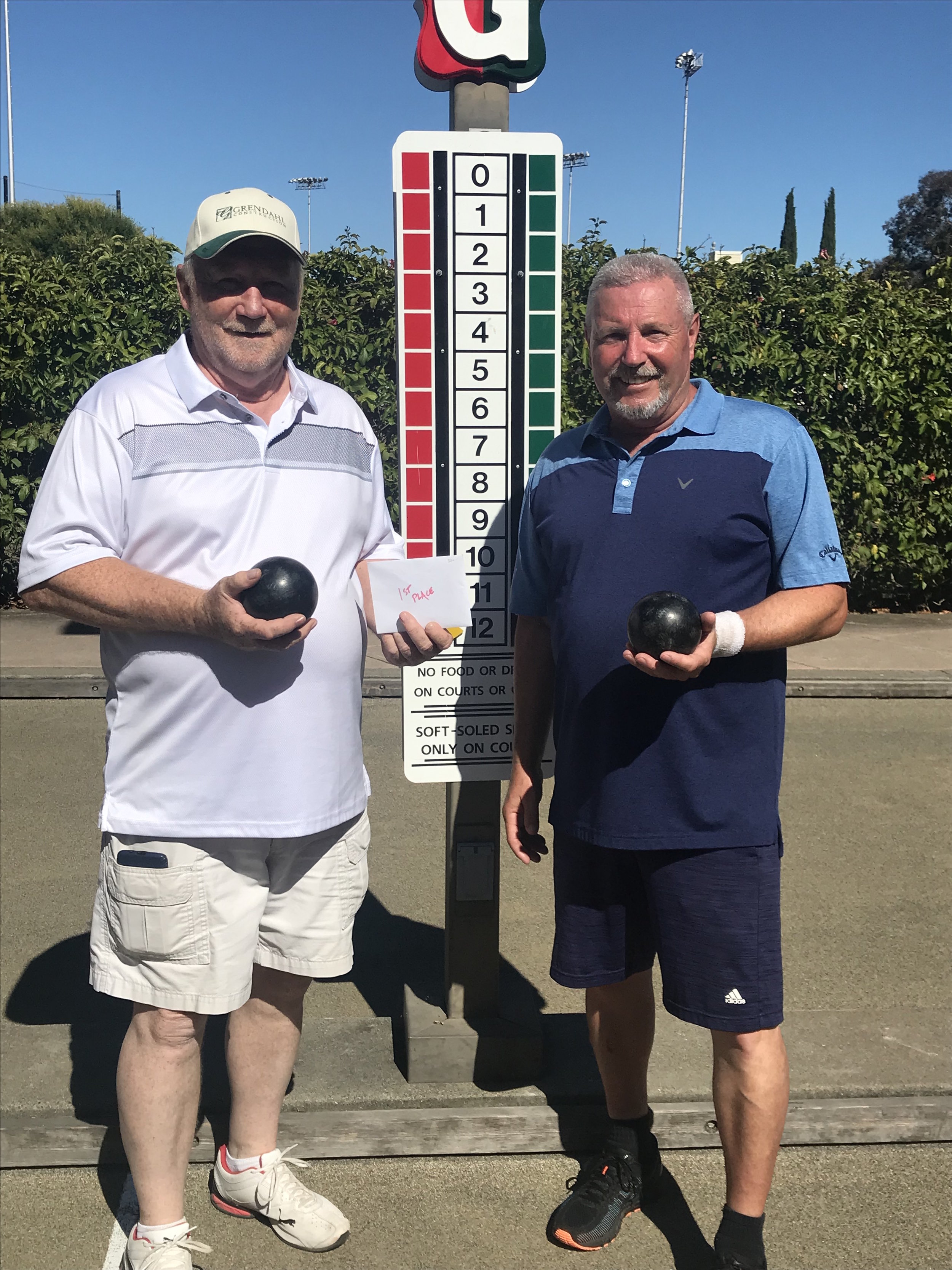 USBF Men's Doubles 1st Place Verne Cooper(left) and Bob Kennedy(right) from Stockton
