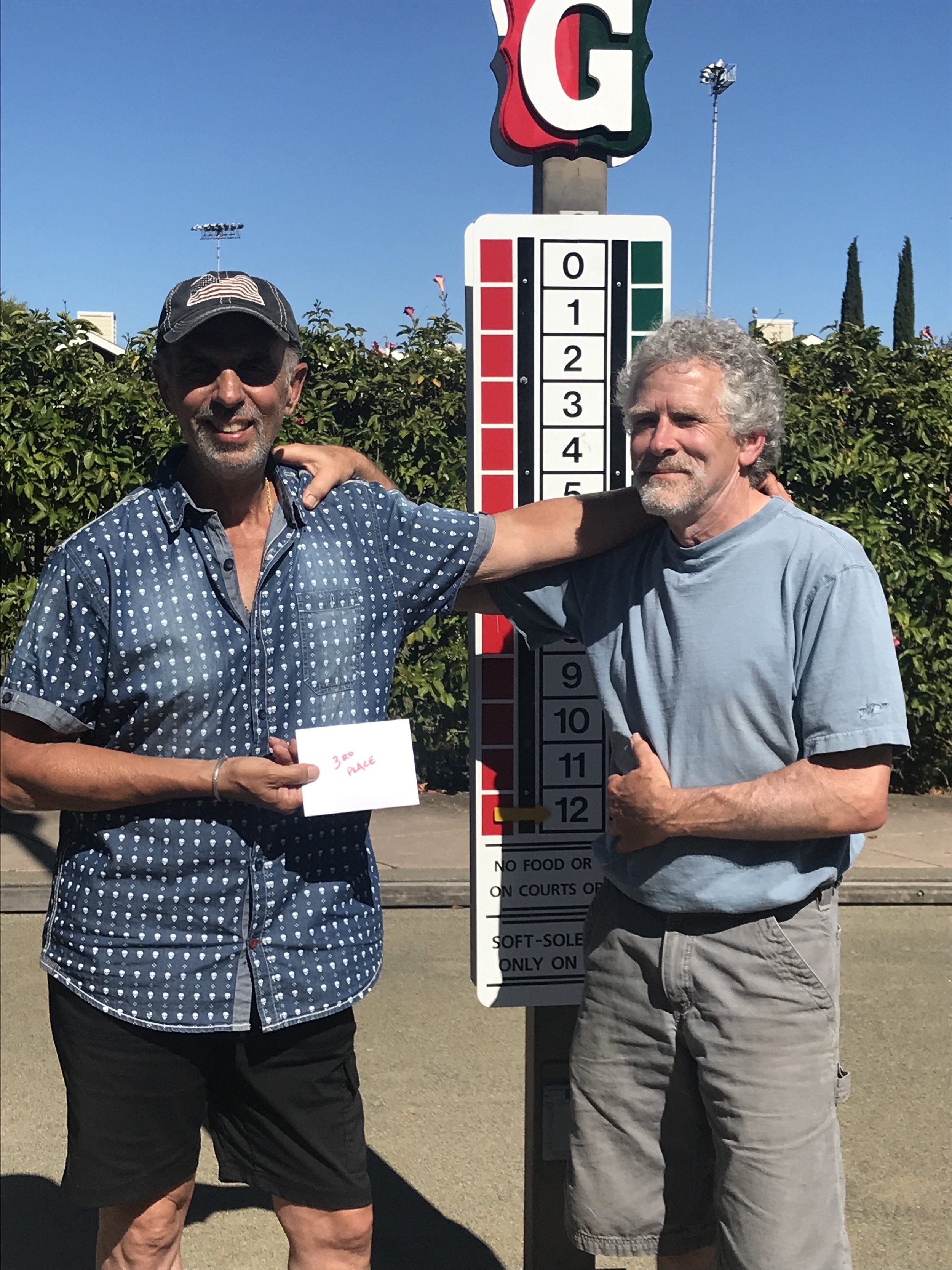 USBF Men's Doubles 3rd Place Carmen Bottiglieri (left) and Jim Fox (right) fromMarin Bocce