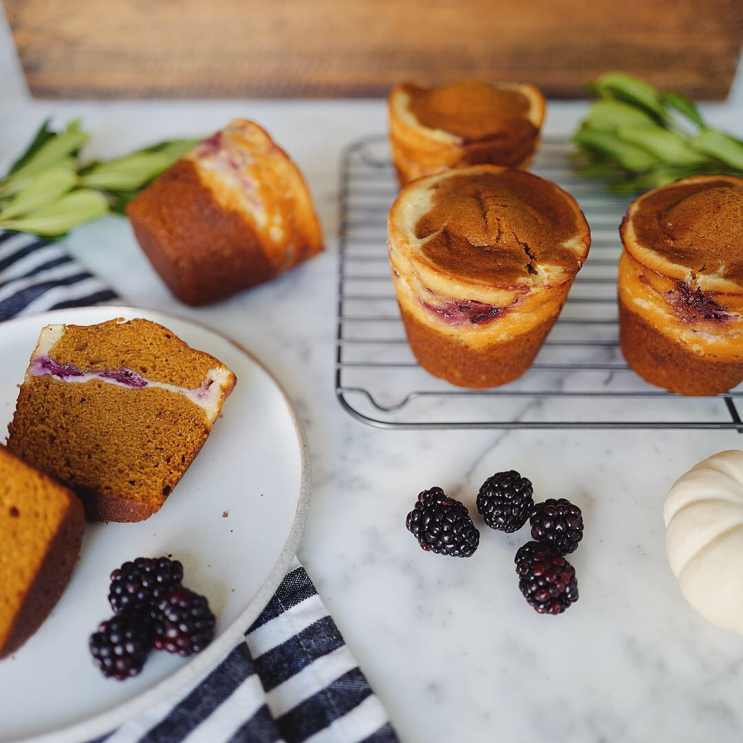 PumpkinCreamCheeseBread with Blackberries-1.JPG