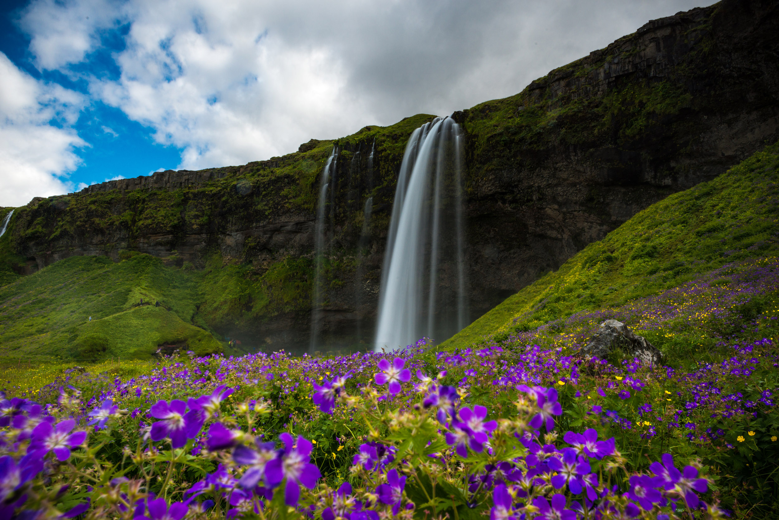 Seljalandsfoss - This was our first stop outside of Reykjavík, and definitely a precursor to the stunning beauty of Iceland. I couldn't recommend a better place on this earth to witness a wide array of stunning landscapes.