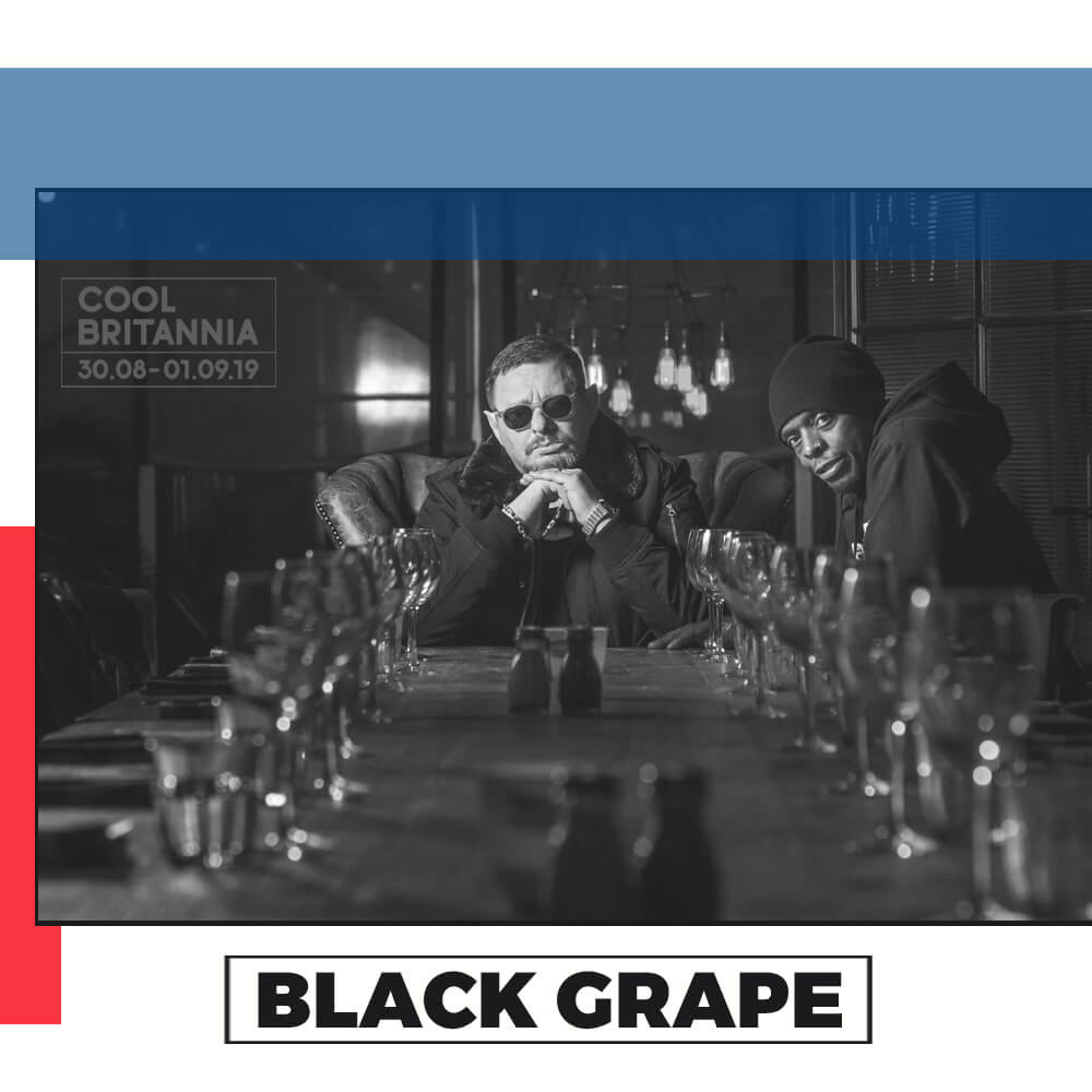 BLACK GRAPE could only have been made in Manchester. The swagger, fun and cryptic humour seem hewn from a city historian AJP Taylor once described as offering an archetypally different way of English urban life to London. Both Shaun Ryder and Paul Leveridge, known as Kermit, came from edgy-but-cool parts of the city. In Shaun's case Salford, (though I know better than to designate that side of the Irwell as Manchester in certain company) with Kermit originating Moss Side.  We have two restlessly creative men, both from the wrong side of the tracks, neither inclined to go to art school or enrol on an MFA program, yet loaded with street smarts and musical talent, and wanting the world. Good old punk had told every scally they could have it, and a generation of us went for it in our own ways, with varying degrees of success. Shaun's astonishing rise and fall with the Happy Mondays is the stuff of legend.  As the friendship developed, so too did a stunning collaboration.  It's Great When You're Straight...Yeah , the ironically entitled album, which gave a nod to their hook up as drugs buddies around the grizzled fag end of Happy Mondays and Kermit's band The Ruthless Rap Assassins. It was a storming phoenix rising from the ashes of the other projects that seemed to have run their course.  Black Grape followed this up with  Stupid, Stupid, Stupid , which, while not hitting the giddy heights of its predecessor, had enough moments to cement the band as a fixture.