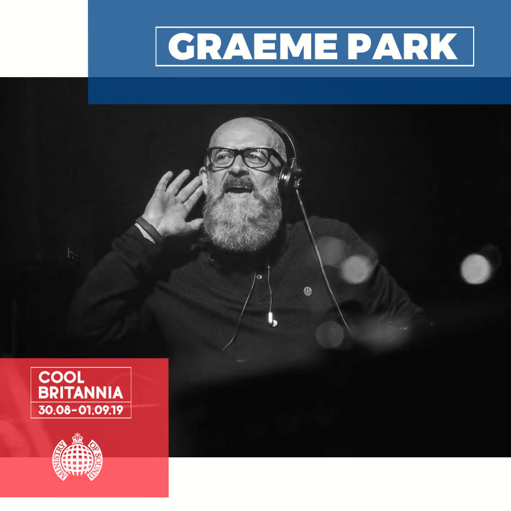 The story of DJ Graeme Park really mirrors the story of the evolution of dance music and club culture itself. Graeme found himself working in a Nottingham record shop called Selectadisc in the early 1980s, when the very first house records began to filter through from Chicago, Detroit and New York. When the shop's owner opened a nightclub, it was only natural he should turn to Graeme to select the discs. Determined to showcase this new style of music, his reputation as a house pioneer soon brought him to the attention of Mike Pickering at the Haçienda in Manchester, who asked him to cover for him while he went on holiday in 1988. Simply put, there was no-one else in the country who could do the job. The Summer of Love followed, and Parky quickly became one of the biggest names on the emerging dance scene. Aside from his nine year residency at The Haç, he was one of the first British DJs to play places like Australia, South America, the USA, Asia and beyond as well as producing and remixing tracks for the dancefloor, including The Brand New Heavies, Inner City, Eric B & Rakim, New Order, Sophie Ellis-Bextor and more.  Today, with regular gigs around the UK, Europe and beyond, Graeme plays a selection of classic house cuts as well as new and current tunes to audiences made up of die-hard regulars and new clubbers too. Whether through his live DJ sets, his radio shows, his productions and remixes or simply by getting to know his audience, Graeme has spent over 30 years getting his jocular personality across. He was there before it all started, he was at the forefront of the dance scene when it was at its zenith and he's still there, still rocking it, years later – longer than some of the people on the dancefloor have been on the planet! And the best thing is he still loves it, still loves the music and still loves to play it for people to dance to.  'Yeah, for my entire career I've been finding good tunes that I want other people to hear. The reason I keep doing it is 