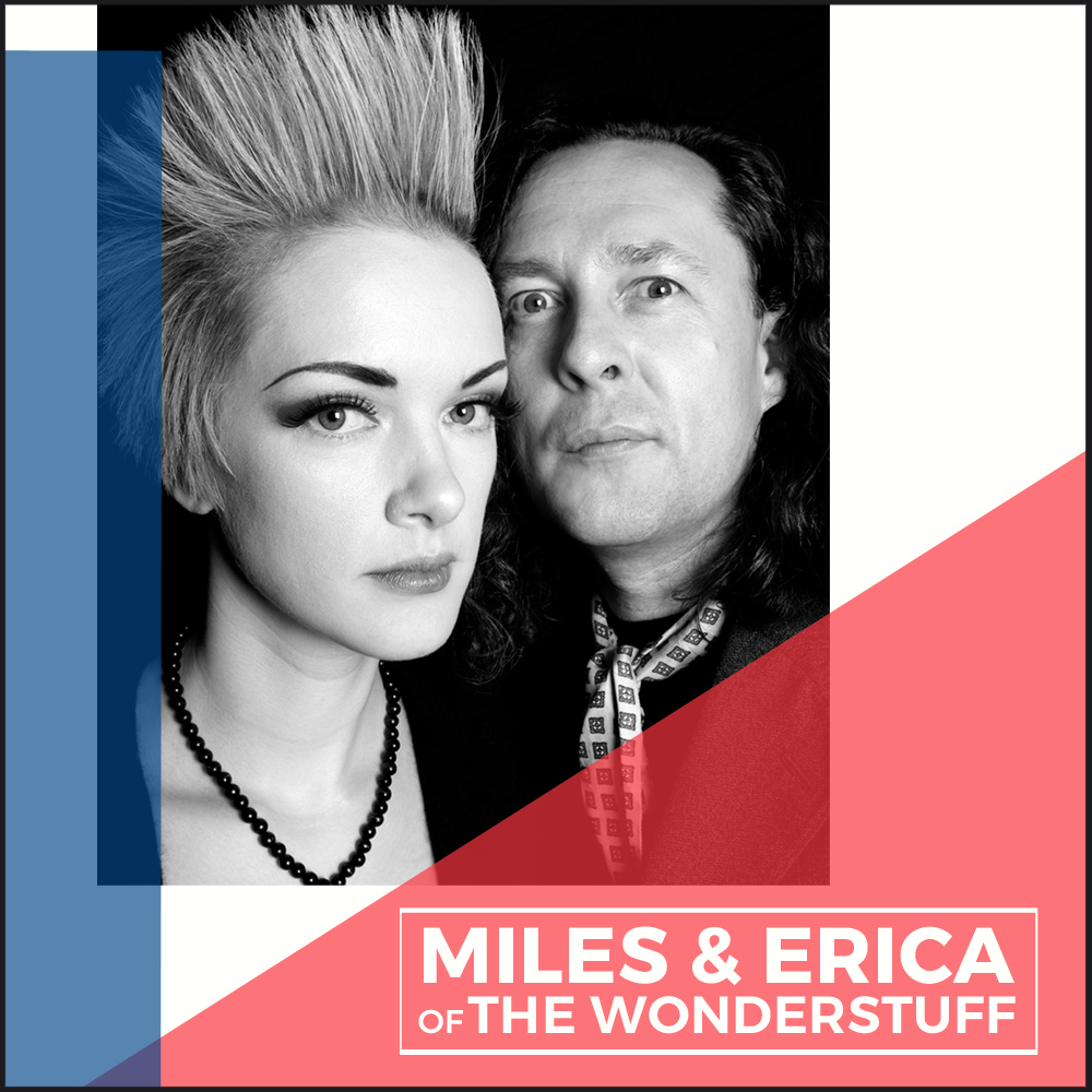 MILES AND ERICA OF THE WONDERSTUFF - The duo will be performing an acoustic show on The Barn stage; including tracks from their own albums in addition to Wonder Stuff material and the occasional cover version. All interspersed with Miles' trademark inter-song banter and insight into the background behind some of the tracks being performed.