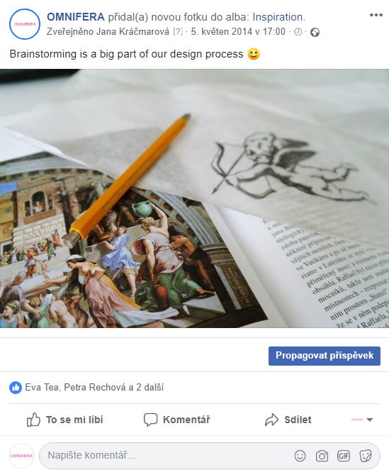 Facebook post few months before the first release