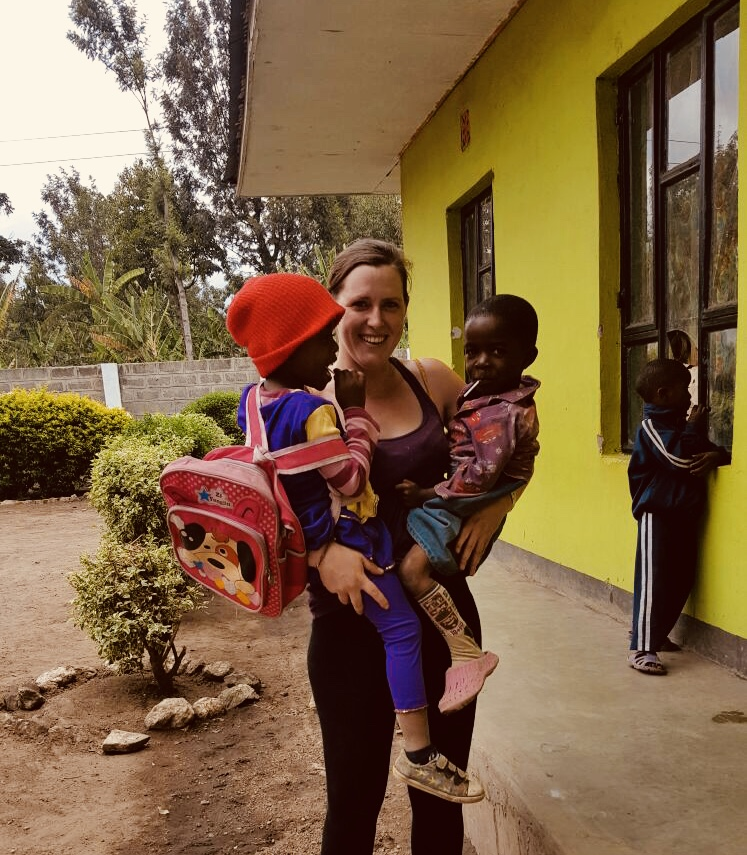 Volunteering in an orphanage, farming and playing with kids in Arusha, Tanzania, 2017.