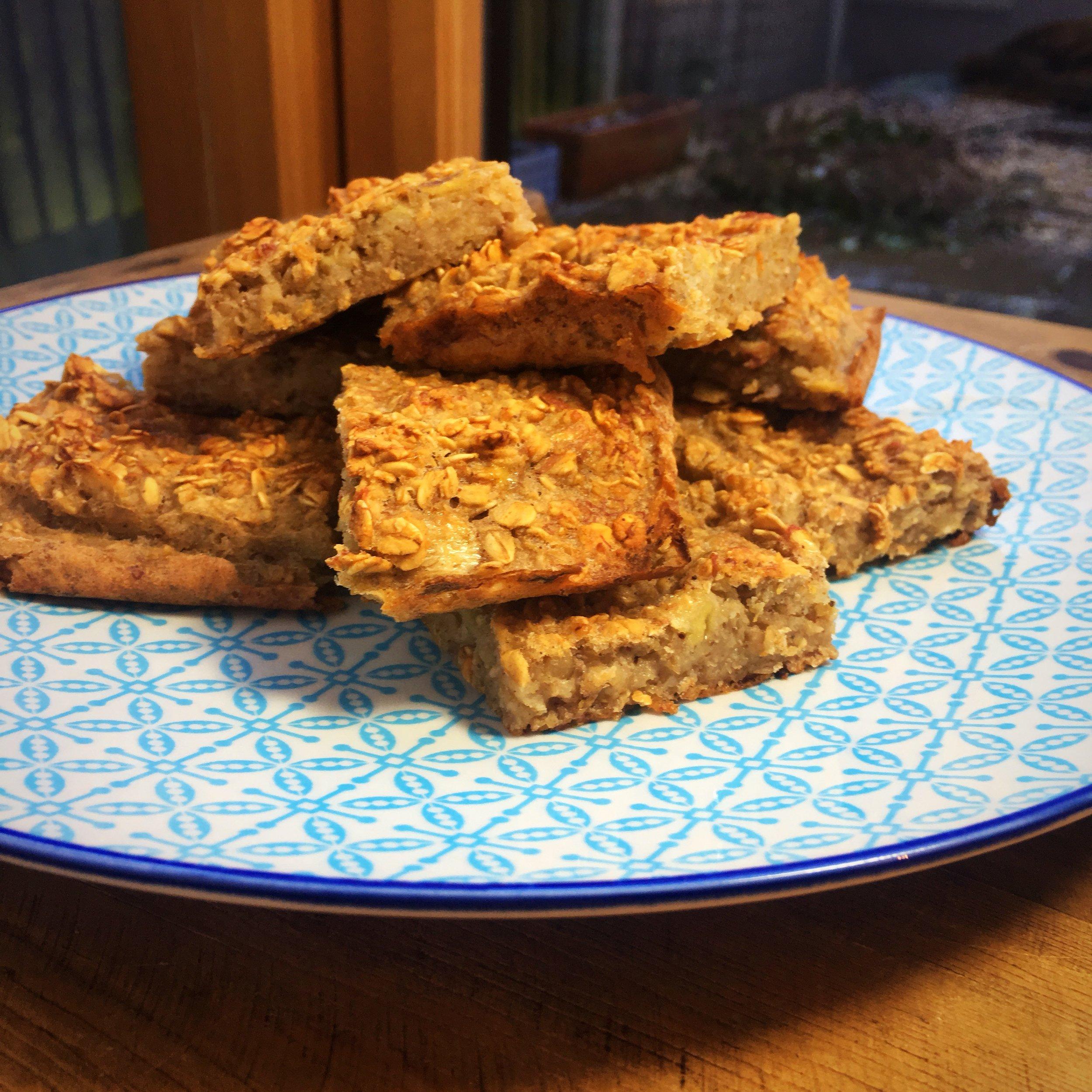 Biscuiți sănătoși Flapjack de tort de morcovi suplimentari