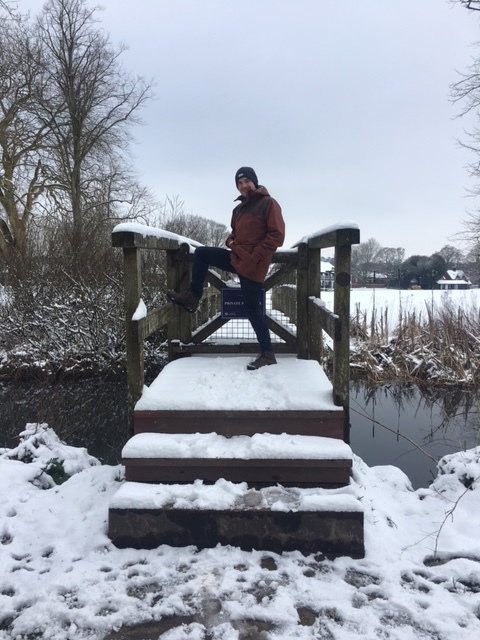 Or a posing kind of day, alternatively, for Ben at least, at the bridge on the water meadows.